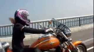 getlinkyoutube.com-女性ライダー 琵琶湖大橋~鯖街道~熊川宿 2013 8.15KAWASAKI VULCAN MEAN STREAK 1500