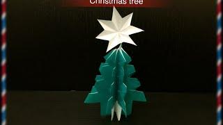 getlinkyoutube.com-1枚で作る  簡単 おりがみ クリスマスツリー origami  Xmastree
