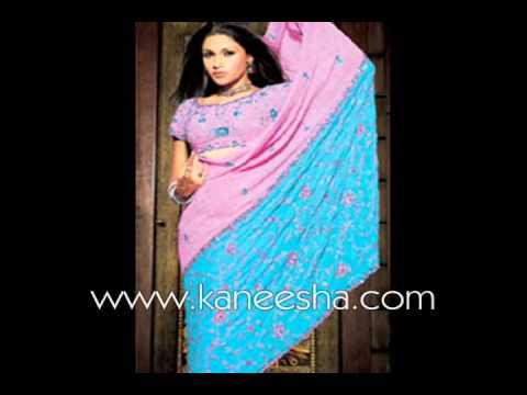Georgette Designer Sari, Indian Bridal Fashion Sari