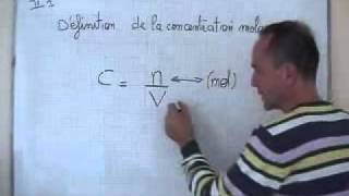 cours seconde / chimie / ch6: concentration molaire C = n/V