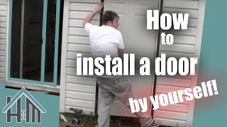 getlinkyoutube.com-How to install an exterior door, pre-hung steel. Replace a door. The Home Mender