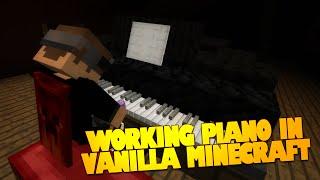 getlinkyoutube.com-Minecraft Redstone | Working Piano in Vanilla Minecraft! | Minecraft Piano (Minecraft Redstone)