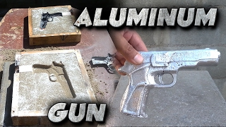 getlinkyoutube.com-Casting A 9mm Toy Gun Into Solid Aluminum Not Lost Foam