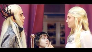 """getlinkyoutube.com-Hobbit Bilbo Baggins at the cosplay festival """"Animania 2014"""" by Double N. Searching for the ring"""