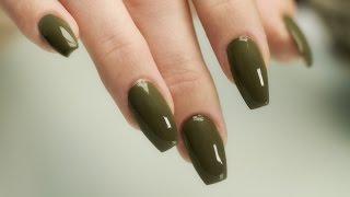 getlinkyoutube.com-Coffin - Ballerina Shaped Nails