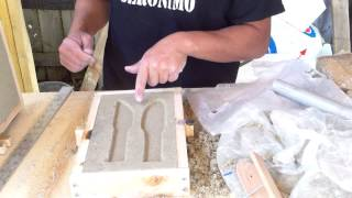 getlinkyoutube.com-Sand casting demo... Making a practice knife with sand casting