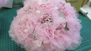 getlinkyoutube.com-Stunning Elegant Shabby Chic Wedding Bouquet Tutorial - jennings644