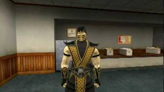getlinkyoutube.com-Garrys mod . Mortal Kombat - Scorpion bad day .