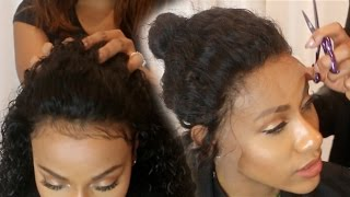 getlinkyoutube.com-Sew in your Lace Front (NO GLUE)