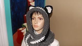 Crochet bufanda circular o infinita con capucha y orejas - con Ruby Stedman