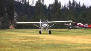 getlinkyoutube.com-Highlander Super STOL VS PA11 Garden Valley Fly in 2014
