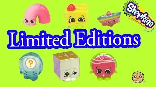 getlinkyoutube.com-All 6 Season 5 Shopkins Tiny Toys Limited Edition Complete Set Blind Bag Opening - Cookieswirlc