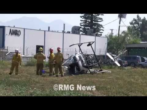 Saturday's helicopter crash at the Whittier Narrows Recreation Area, South El Monte.