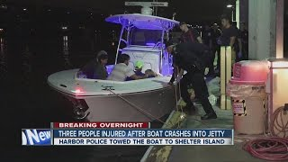 getlinkyoutube.com-5 rescued after boat crashes into jetty off Coronado