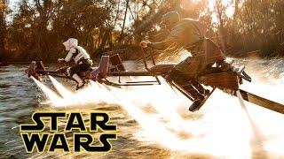getlinkyoutube.com-Star Wars - Speeder Bike Jetovator Battle in Real Life!