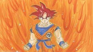 getlinkyoutube.com-Drawing Goku Super Saiyan God