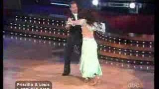 getlinkyoutube.com-Dancing with the star Priscilla Presley Louis 04-07-08