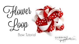 getlinkyoutube.com-Flower Loop Hair Bow Tutorial - Hairbow Supplies, Etc.