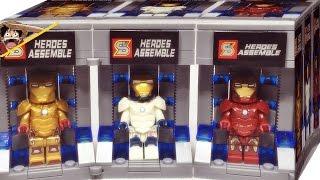 getlinkyoutube.com-SY 짝퉁 레고 아이언레기온 아이언맨과 슈트보관소 미니피규어 조립 리뷰 Lego knockoff ironman iron legionaire Garage suit case