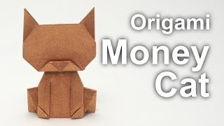 getlinkyoutube.com-Origami Money Cat v2 (Jo Nakashima)