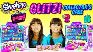 getlinkyoutube.com-Shopkins SEASON 4 Glitzi Collector's Case Display with 8 EXCLUSIVES | Blind Baskets Opening