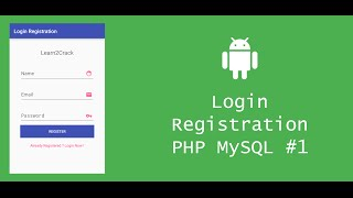 getlinkyoutube.com-Android Login Registration System with PHP and MySQL - Server #1