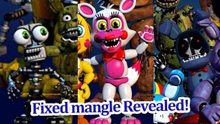 Fixed Mangle, Mysterious endoskeleton and adventure withered Bonnie Revealed! FNAF world news!