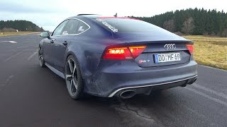 getlinkyoutube.com-700HP Audi RS7 Sportback - Brutal Revs & Accelerations!