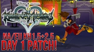 KINGDOM HEARTS 1.5+2.5 WILL BE GETTING A DAY 1 PATCH!