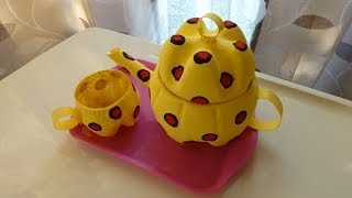 getlinkyoutube.com-Plastic Soda Bottle Crafts: Making a Teapot - Recycled Bottles Crafts