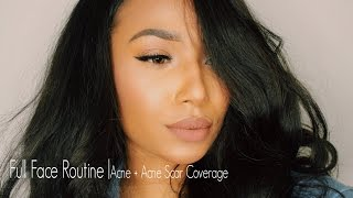 getlinkyoutube.com-Full Face Routine | Acne + Acne Scar Coverage
