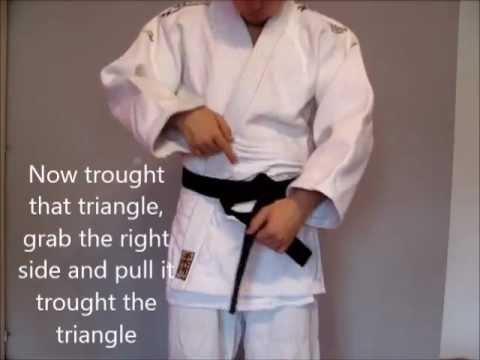 How to tie a belt (OBI) - Aikido basic