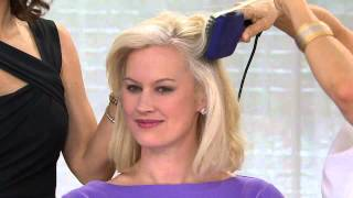 getlinkyoutube.com-Calista Tools Perfecter Pro Grip Heated Paddle Brush with Sandra Bennett