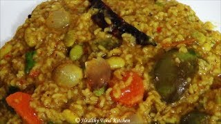 getlinkyoutube.com-Bisi Bele Bath Recipe-Sambar Rice Recipe-Variety Rice Recipe By Healthy Food Kitchen