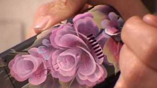 getlinkyoutube.com-One Stroke Painting. Decorating your phone. Tatiana Kudryavtseva