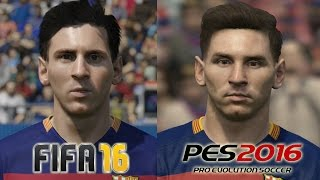 getlinkyoutube.com-FIFA 16 vs PES 2016 BARCELONA Face Comparison