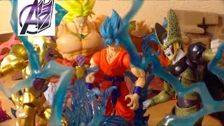 DragonBall Z [Stop Motion Film] SSGSS GOKU VS GOLDEN FRIEZA, CELL, & BROLY