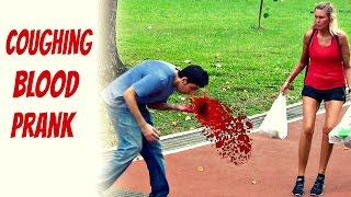 getlinkyoutube.com-Coughing blood in public prank - Social experiment