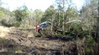 getlinkyoutube.com-Skid Steer Clearing Trees