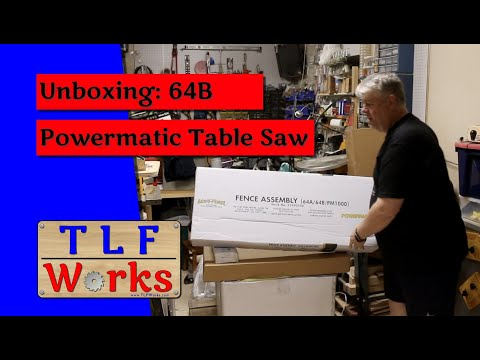 Unboxing video of the Powermatic 64B Youtube Thumbnail