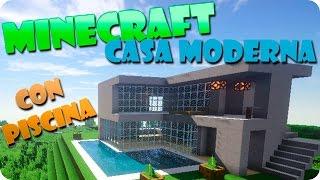 getlinkyoutube.com-Minecraft Como Hacer Una Casa Moderna Con Piscina