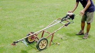 getlinkyoutube.com-แปลงเครื่องตัดหญ้า2 DIY LawnMower2