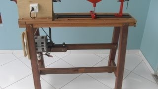getlinkyoutube.com-Torno para Madeira Feito em Casa (Wood Lathe Homemade)
