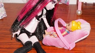 getlinkyoutube.com-How to make a baby car seat for doll (Monster High, MLP, EAH, Barbie, etc)