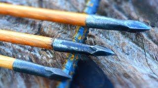 getlinkyoutube.com-How to Make a Forged Steel Bodkin Arrowhead From a Rebar