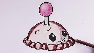getlinkyoutube.com-Dibujando y coloreando Mina de Patata (Plantas vs Zombies) - Drawing and coloring Potato Mine