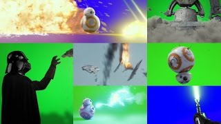getlinkyoutube.com-Free Stock Footage: Action Movie FX Green Screens - Star Wars Force Awakens Effects
