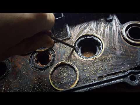 Замена сальников свечных колодцев ГБЦ двигателя GA15DE на NISSAN Wingroad 1998 г.в.