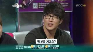 getlinkyoutube.com-[cut] 111026 Kyuhyun imitated Sung Sikyung and sang 난 좋아 (Even Now)