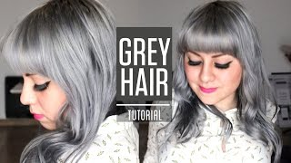 getlinkyoutube.com-HOW TO GET SILVER GREY HAIR / Roux fancifull 41 True steel rinse tutorial
